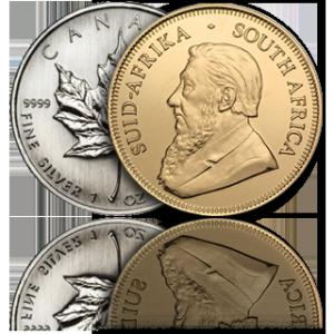 Gouden en zilveren munt